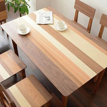 Minimalist Modern Rectangle Solid Wood Dining Table