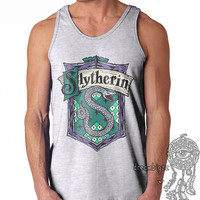 Slytherin Crest #2 Full Color print on Male tank (Gildan Tank G220)