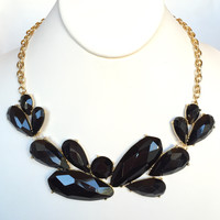 Byron Stone Necklace Set - Black