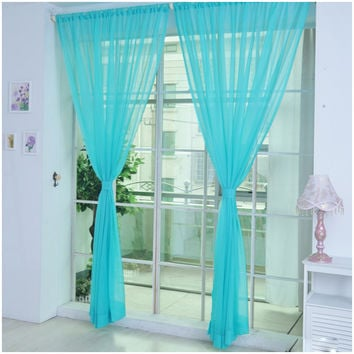 TFBC-Wear rod Solid color Shalian cut off window screening Blackout curtains 12 Colors