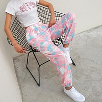 Women Loose Fashion Camouflage High Waist Leisure Pants Sweatpants Trousers