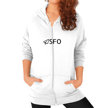 SFO Zip Hoodie (on woman)