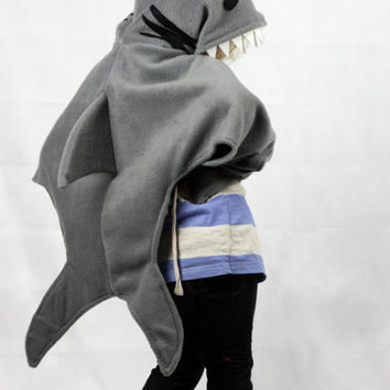 Childrens Shark Costume - dress up cape fish kids fancy dress