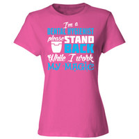 I Am A Dental Hygienist Please Stand Back While I Work My Magic - Ladies' Cotton T-Shirt
