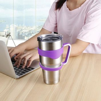 2 PCS  Cup Handle for YETI 30 Oz Tumbler Rambler Mug Hand Holder Stainless Steel Insulated Bottle Handle