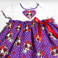 Baby Dress, Puppy Dogs, Baby Girl, Bodysuit Dress, Baby Girl Gift