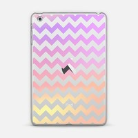 Fruity Cotton Candy Chevron Transparent iPad Mini 1/2/3 case by Organic Saturation | Casetify