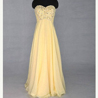 sweetheart bridesmaid dress, prom dress, beading dress, evening gowns, custom made gowns