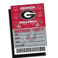 Georgia Bulldogs Birthday Party Invitations | UGA Birthday Party Invitations | Georgia Birthday Party Invitations