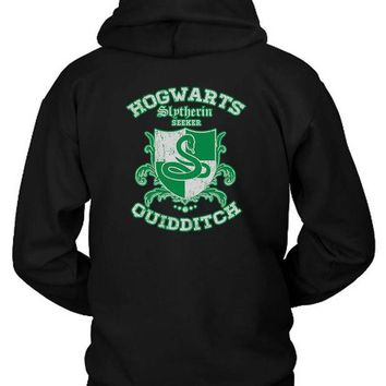 DCCK7H3 Slytherin Quidditch Hoodie Two Sided