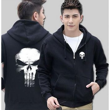 The Punisher Skull mens hoody 2016 new autumn winter high quality men sweatshirt tracksuit hip hop style hoodie brand clothing