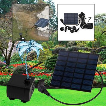 2017 Hot 1set Professional Solar Power Fountain Pool Water Pump Garden Plants Sun Plants Watering Outdoor Promotion