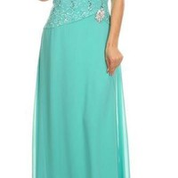 Always And Forever Mint Sequin Lace Maxi Dress