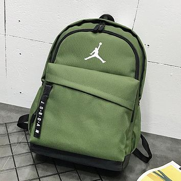 NIKE Jordan New fashion people print couple backpack bag Green