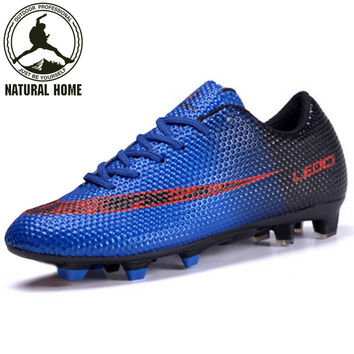 NaturalHome 2017 Soccer Shoes for Men Football Boots Soccer Cleats Outdoor Sneakers Botines Zapatos de Futbol Football