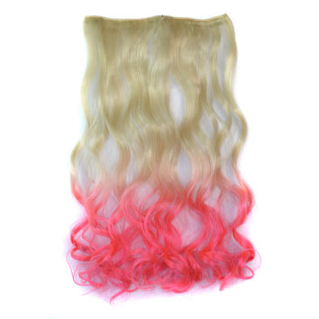 On Sale Hot Deal Hot Sale Sexy Beauty Wigs Color Wig Beige Gradient Pink Curly Hair Hair Extensions [4923177028]