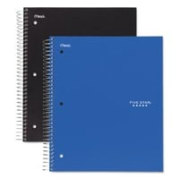 Five Star Wirebound 3-Subject Notebook, College Rule, 11 x 8 1/2, 150 Sheets, Assorted - Walmart.com