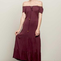 Kira Off Shoulder Boho Maxi Dress
