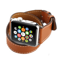 Double Loop Classic Extra Long Genuine Leather Band for Apple Watch