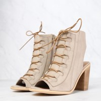 very volatile - dapper taupe - heeled sandal (women)