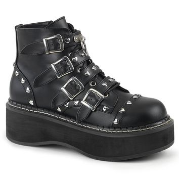 Demonia - EMILY-315 - Black Vegan Leather - Women's Ankle Boots