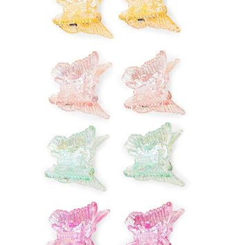 Iridescent Butterfly Clip Set