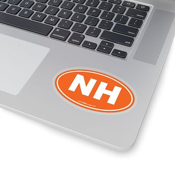 New Hampshire State Shape Sticker SOLID ORANGE