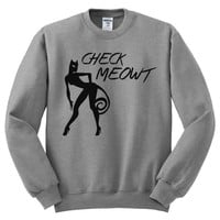 Check Meowt Mens Sweatshirt