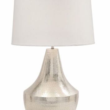 Benzara Stunning Metal Hammered Table Ambiance Lamp
