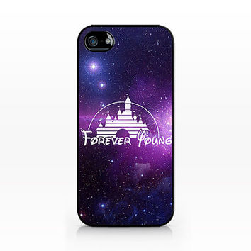 VNP-034-Forever Young Disney Galaxy-Iphone 4/4s, Iphone 5/5s hard plastic case