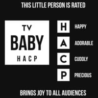 TV Rating (Baby Onesuit) by Samuel Sheats