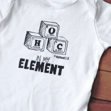 Periodic Table Blocks Baby Onesuit | Science Baby Clothes | IN MY ELEMENT | Teacher, Scientist, Student, Chemist, Biologist, Physicist