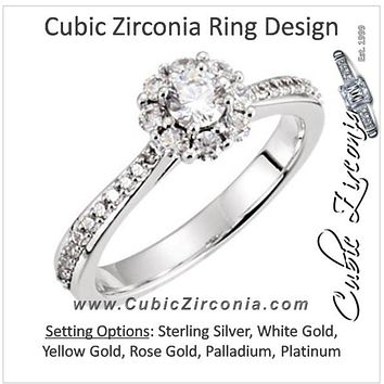 Cubic Zirconia Engagement Ring- The Zakeya