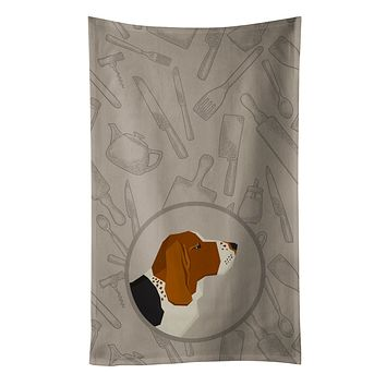 Basset Hound In the Kitchen Kitchen Towel CK2165KTWL