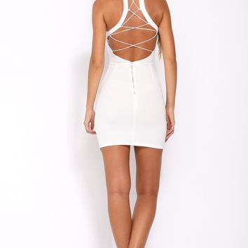 Edge of Town Dress White