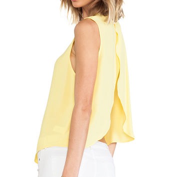 Backstage Audrey Top in Yellow
