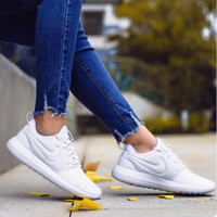 NIKE ROSHE TWO Women Casual Running Sport Sneakers Shoes White