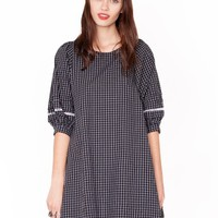 Grid babydoll dress - Shop the latest Fashion Trends
