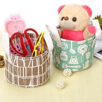 Small Laundry Basket for Baby Clothes Women Desktop Cosmetic Storage Container Waterproof Home Toilette Supplies Box