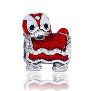 Pandora Charms Chinese Lion Dance Charm Bead Authentic Pandora