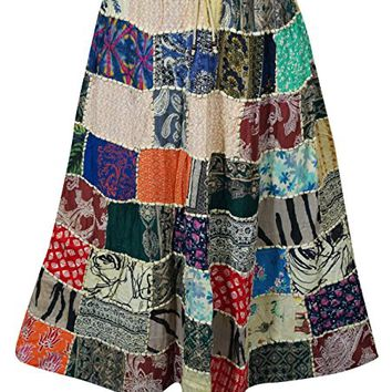 Women's Maxi Skirt Indian Patchwork to Gift Her L