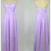 Gorgeous Lilac A-line Sweetheart Floor Length Prom Dress
