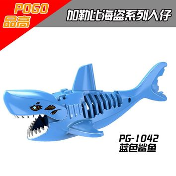 POGO Ghost Zombie Shark Jack Sparrow Pirates of the Caribbean hulk Legaoings Toys FOR Children Figures Building Blocks Bricks