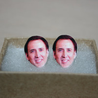 Nicolas Cage Post Stud Earrings Celebrity Jewelry