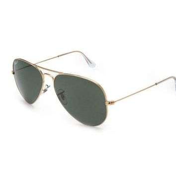 New Ray Ban Rb3025 00158 Aviator Gold Mens Womens Sunglasses Glasses Polarised