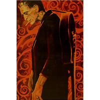 Lowbrow Art Company Man in Black Art Print by Artist Mike Bell