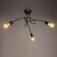 Vintage Barn Black Chandelier Max 180W with 3 Lights Painted Finish