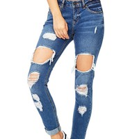 Rebel Ripped Ankle Jeans