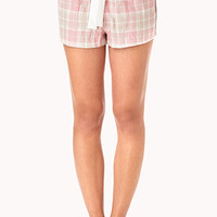 Sweet Flannel PJ Shorts
