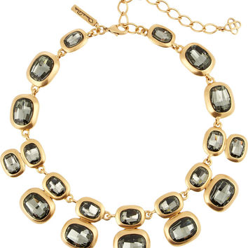 Oscar de la Renta Gold-plated crystal necklace – 60% at THE OUTNET.COM
